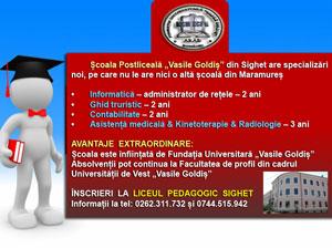 Scoala Postliceala Vasile Goldis Sighet