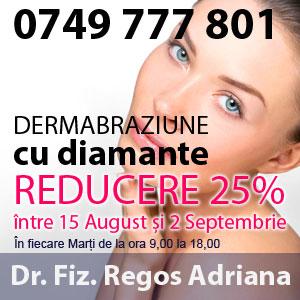 Reducere 25% pentru dermobraziune cu diamante