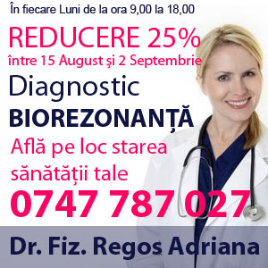 Reducere 25% intre 15 aug-2 sept  pentru Diagnostic Biorezonanta Magnetica
