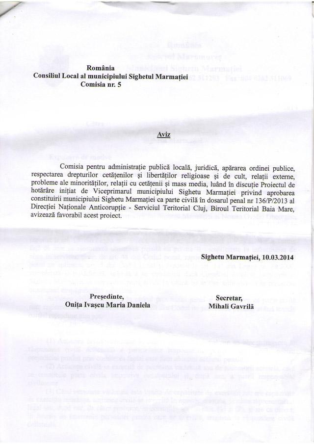 EXCLUSIV SIGHET 247 – Documentele în original prina care Consiliul local Sighet se constituie parte civilă în dosarul Parcometrele împotriva lui Ovidiu Nemeș