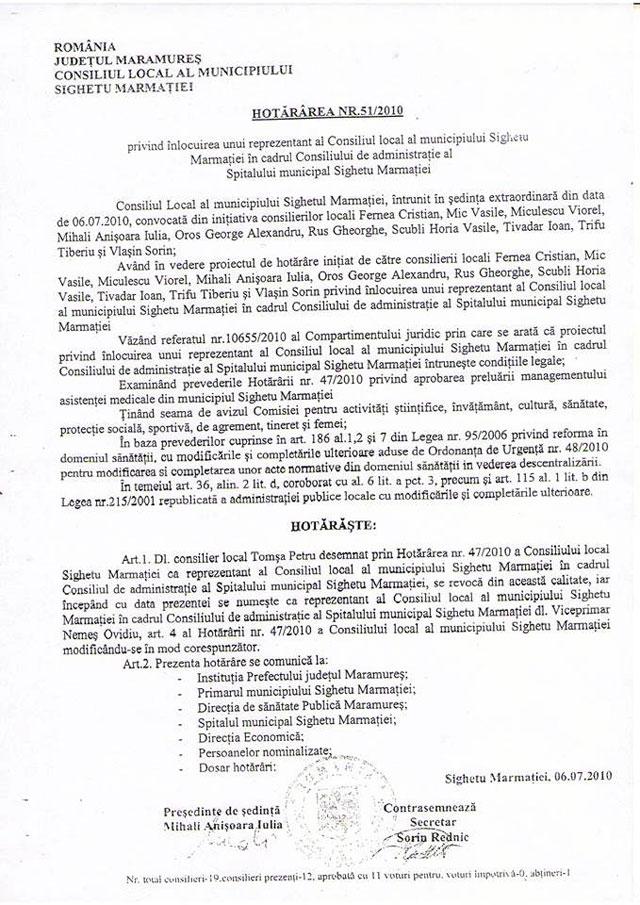 EXCLUSIV SIGHET 247 - Primarul Sighetului, sub luneta ANI: Documentul care demonstrează că Ovidiu Nemeș ar putea fi declarat INCOMPATIBIL