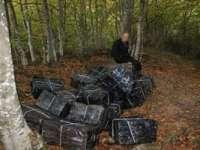 Aproximativ 10.000 pachete de țigări descoperite la marginea localității Crasna Viseului