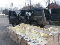 VIDEO - Autoturism încărcat cu 16.000 pachete ţigari, descoperit la frontieră