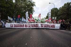 Mii de oameni în stradă la Madrid
