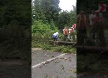 PAGUBE - 250 de indicatoare rutiere distruse de furtuna din 17 septembrie pe șoseaua Baia Sprie - Bârsana