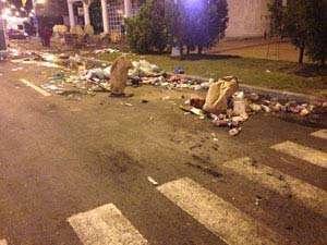 50 de camioane de gunoaie după Sărbătoarea Castanelor