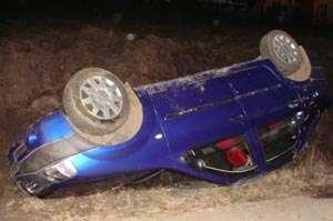 A condus fără permis şi sub influenţa alcoolului