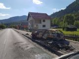 A fost identificat conducătorul autoturismului care a ars în Borşa. Este un tânăr de doar 17 ani