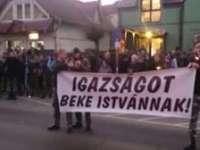 A treia zi de proteste la Târgu Secuiesc - Mii de etnici maghiari solicită eliberarea presupusului terorist Beke Istvan