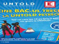 Abonamente gratuite la UNTOLD pentru liceenii care iau BAC-ul cu nota 10, reduceri pentru cei care promovează examenul