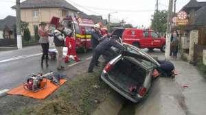 Accident grav pe DN 1C în localitatea maramureșeană Recea - șofer încarcerat