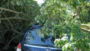Accident grav pe DN18. Un bărbat a intrat cu maşina într-un copac