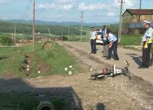 Accident la Valea Vişeului: Un minor de 15 ani a intrat cu mopedul într-un stâlp chiar lângă Biserica Ortodoxă