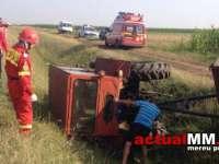 ACCIDENT MORTAL ÎN NEGREȘTI-OAȘ - S-a răsturnat cu tractorul într-un șanț și a murit pe loc