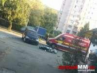 ACCIDENT - Motociclist în stare gravă după ce a fost accidentat de un autoturism