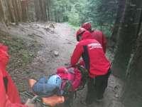 ACCIDENT - O femeie din Cavnic şi-a rupt piciorul în zona pârtiilor. Se afla la cules de ciuperci