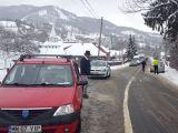Accident pe DN 18. Un autoturism a derapat și a intrat în coliziune cu o altă mașină