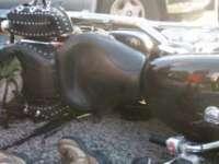 ACCIDENT: Un motociclist german și-a rupt piciorul pe Dealul Stefăniței