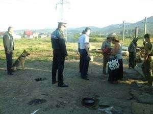 Acţiuni ale poliţiştilor în zonele locuite de romi