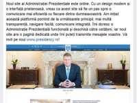 Administrația Prezidențială are un nou site, prin intermediul căruia cetățenii îi pot scrie președintelui