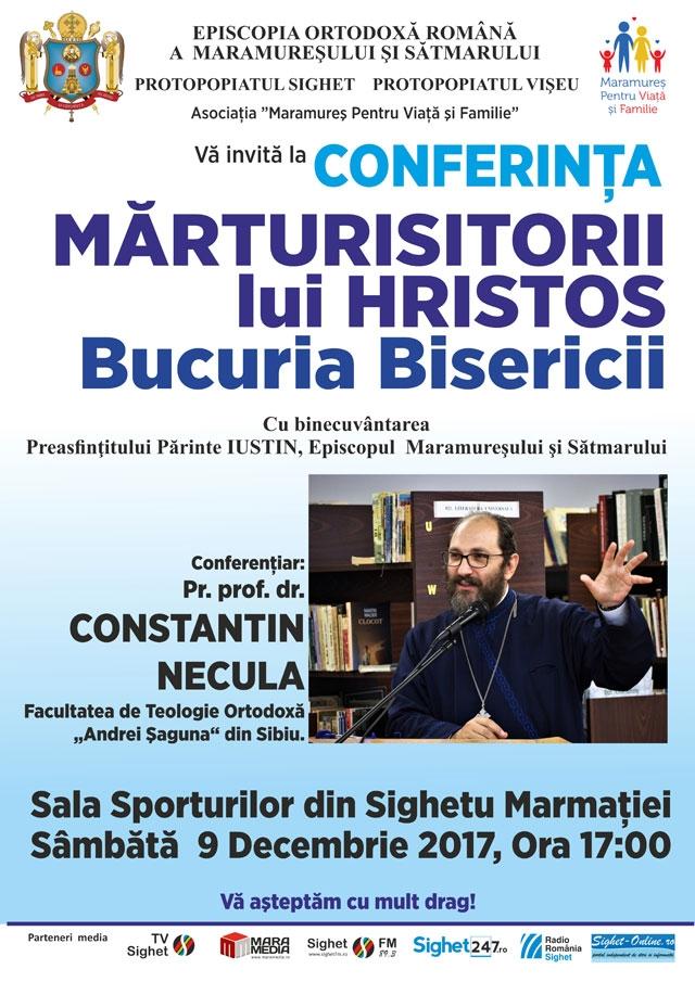 Părintele profesor Constantin Necula vine la Sighetu Marmaţiei