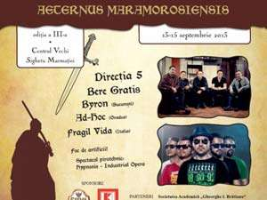 """Află programul Festivalulului """"Aeternus Maramorosiensis"""",  ediția a III-a"""