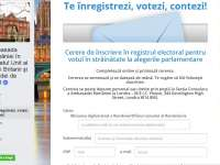 ALEGERI PARLAMENTARE: Aplicație privind înscrierea în Registrul electoral, lansată de Ambasada României la Londra
