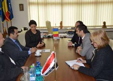 Ali Makin, consulul Ambasadei Republicii Arabe Siriene, în vizită de lucru în Maramureș