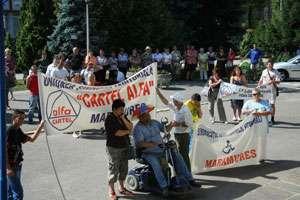 Asistenţii personali din Maramureş au protestat în Capitală