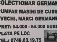 """ATENȚIE LA ESCROCI - Au reapărut """"cumpărătorii"""" de mașini de cusut"""