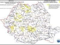 ATENȚIONARE - COD GALBEN de inundaţii în Maramureş pe Vişeu, Iza şi Lăpuş