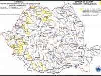 ATENȚIONARE HIDROLOGICĂ - COD GALBEN de inundații pe Vișeu, Iza și Lăpuș până mâine la ora 16