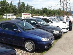 Autoturism furat din Italia depistat la Târgul Auto din Baia Mare