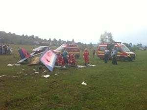 Avion de mici dimensiuni, prăbuşit în Maramureş. Pilotul a murit