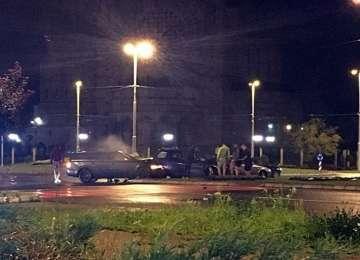 BAIA MARE - Accident cu mai multe mașini implicate într-un sens giratoriu