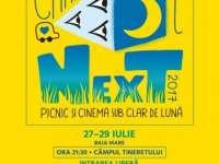 BAIA MARE: CARAVANA FILMELOR NEXT – 3 seri de picnic și cinema sub clar e lună