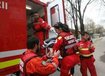 BAIA MARE: Un copil a căzut de la etajul IV al unui bloc