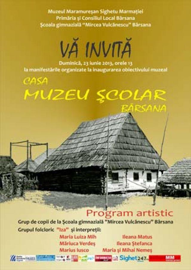 Inaugurarea Casei Muzeu Şcolar în comuna Bârsana