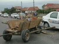 BÂRSANA - Căruță nesemnalizată lovită în plin de un autoturism