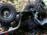 Bătrân de 74 de ani rănit după ce s-a răsturnat cu ATV-ul