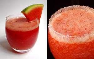 Băutură răcoritoare din banane, pepene roșu și căpșuni