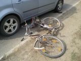 Biciclist accidentat la Vișeu de Sus