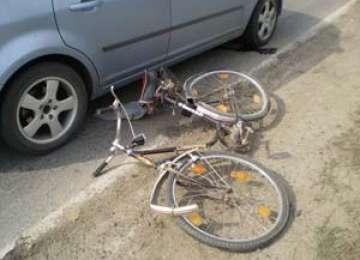 Biciclist accidentat la Vişeu de Sus