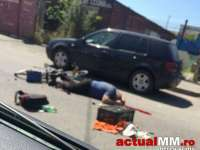 Biciclist care a încălcat marcajul longitudinal dublu continuu, surprins şi accidentat mortal de un autobuz