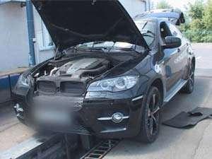 BMW X6 furat din Spania, descoperit la PTF Sighet