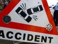 BORŞA: Accident rutier urmat de un incendiu, din cauza vitezei excesive