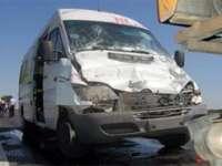 BORȘA: Coliziune între un autoturism și un microbuz cu pasageri