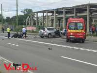 BORȘA - Motociclist de 36 de ani accidentat într-o depășire neregulamentară