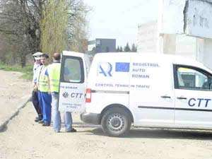 Borşa: Poliţiştii au acţionat împreună cu reprezentanţii Registrului Auto Român și au aplicat amenzi în valoare de 3240 lei