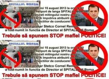 BORŞA se revoltă, din cauza numirii fostului primar Remus Steţco, în funcţia de DIRECTOR al Spitalului
